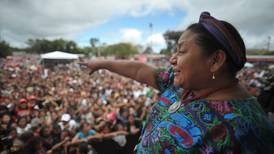 """Rigoberta Menchú: """"Yo no sería capaz  de usar un arma"""""""