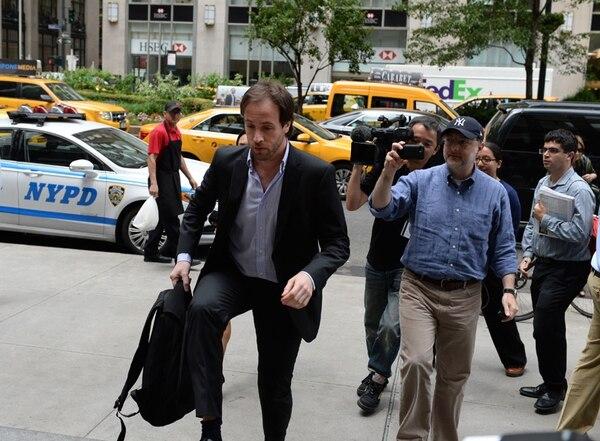 Pablo López, ministro de Finanzas de Argentina, en Nueva York.   AFP