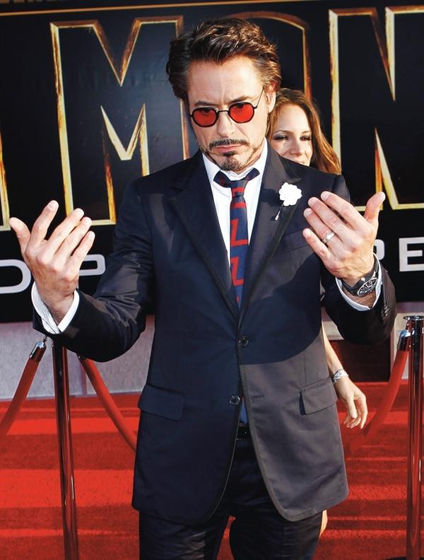 Robert Downey Jr celebró su cumpleaños número 50 el 4 de abril en medio de su éxito.   AP/ARCH.