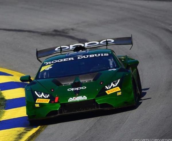 Danny Formal demostró su habilidad a bordo de un Lamborghini Huracán EVO, para subir el podio en el campeonato IMSA de los Estados Unidos. Cortesía