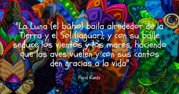 Descripción que Farid Rueda hizo de su mural.