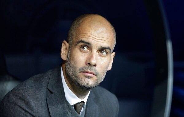 Pep Guardiola en el encuentro del Bayern de Múnich ante el Real Madrid, por Champions League.