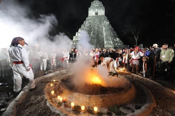 Los sacerdotes mayas utilizaron el fuego para honrar a sus dioses y dar la bienvenida a una nueva era. | AFP