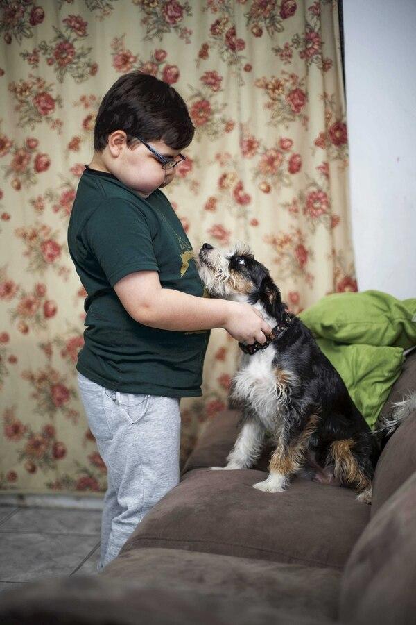 Los cambios físicos que provocó el último tratamiento en el cuerpo de Daniel golpearon sus ánimos. Le recomendaron la compañía de un perro. Fue así como Gidget llegó hace un par de meses a sus vidas.