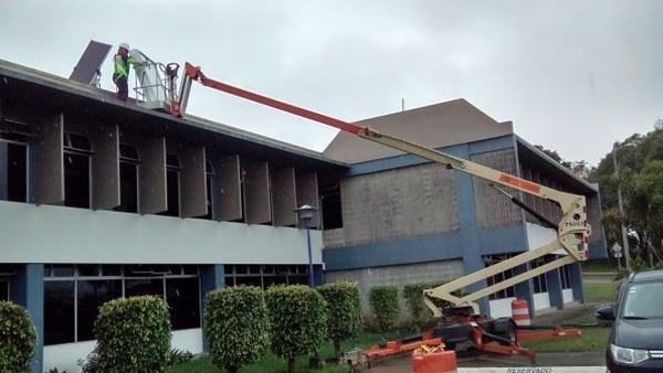 Los paneles solares también se colocaron en el edificio de la Rectoría. Foto cortesía Tec