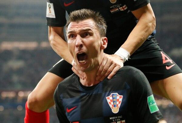 Mario Mandzukic anotó el gol de la victoria croata, que lleva a su país a la final de la Copa del Mundo. Foto: AP /Frank Augstein