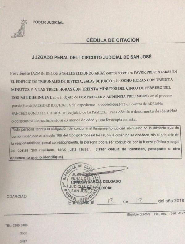 La audiencia preliminar de la denuncia que el Estado presentó contra dos mujeres que contrajeron matrimonio en julio del 2015 se llevará a cabo el 5 de febrero. Foto: Cortesía de Laura Flórez-Estrada.
