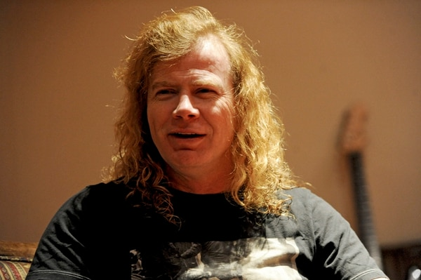 Felices. Dave Mustaine, cantante de Megadeth, y David Ellefson, bajista de la agrupación aseguraron estar felices de volver a Costa Rica, un país que los atrae no solo por la buena respuesta de su público, sino también por el carisma de su gente. Marcela Bertozzi.
