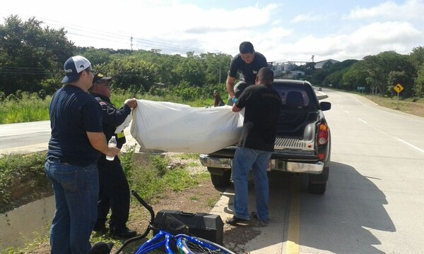 Un ciclista fue encontrado en Cañas, Guanacaste.