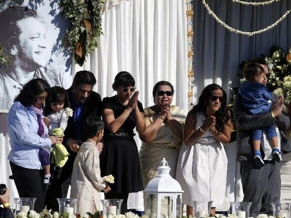 La familia de Ravi Shankar. | AP