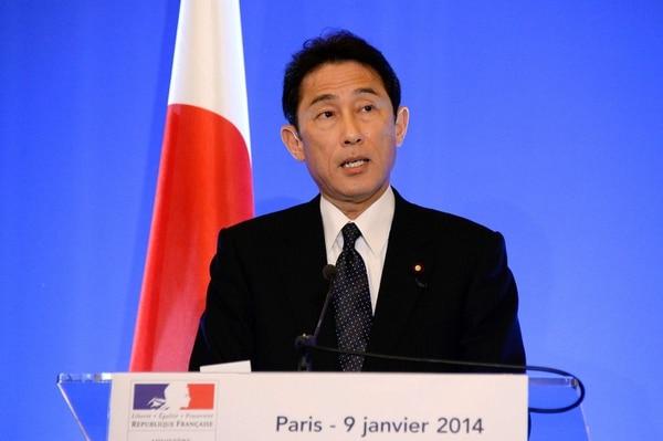 Fumio Kishida, ministro de Asuntos Exteriores de Japón.