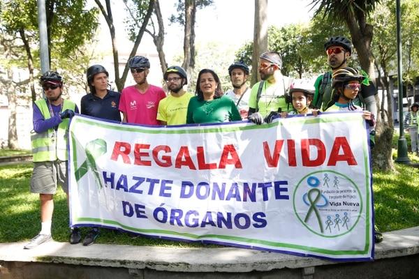En el 2016, se organizó una cleteada recreativa para promover la donación voluntaria de órganos. La actividad fue impulsada por la fundación Vida Nueva y ChepeCletas. ADRIÁN SOTO