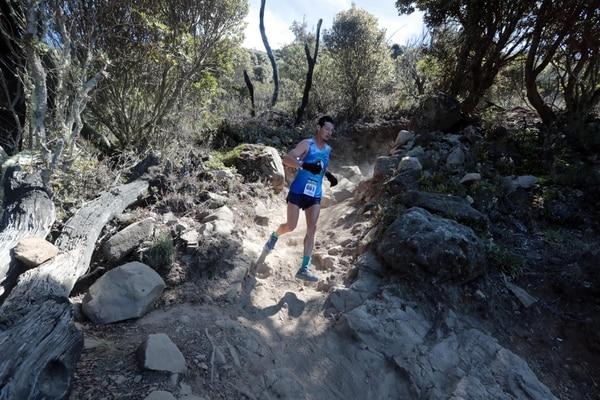 Carrera de 34 kilómetros en el cerro Chirripó. Foto: Alonso Tenorio / La Nación.