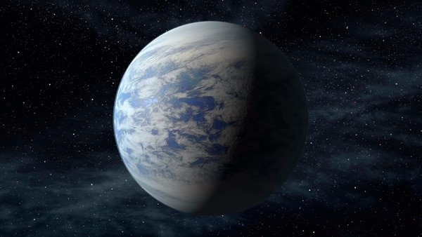 Recreación artística del exoplaneta Kepler-69c, ubicado en una zona habitable de su estrella. | NASA