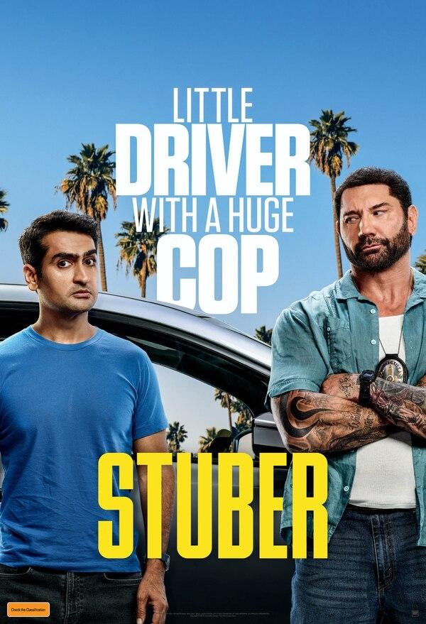 Póster oficial de 'Stuber: locos al volante'. Cortesía de Discine