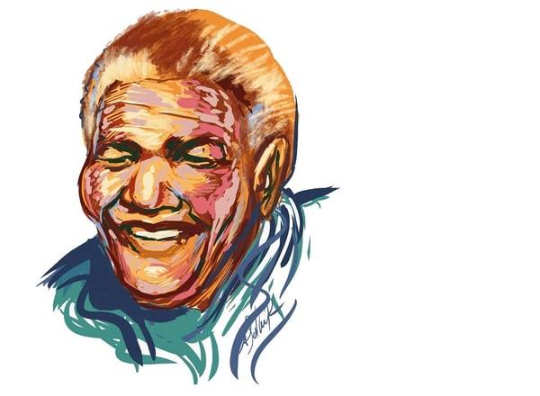 Nelson Mandela fue el encargado de buscar ayuda para comenzar la fundación de The Elders. Ilustraciones por Daniel Solano