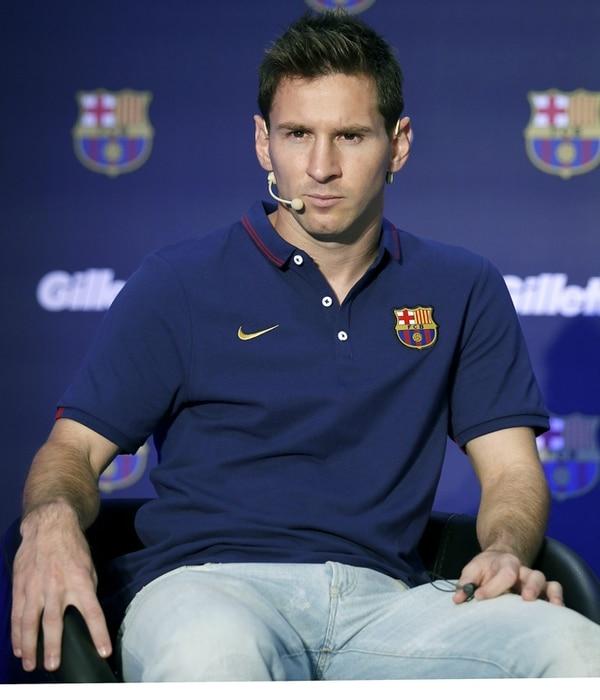 Messi en un acto de mercadeo del Barcelona, el pasado jueves. | EFE