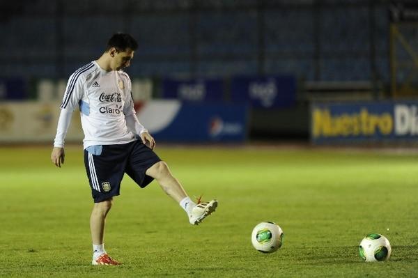 Messi se entrena en Guatemala. | AFP.
