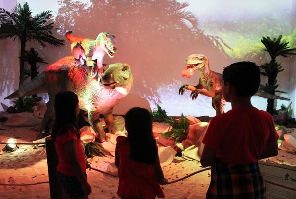 La exhibición 'Expedición Jurásica, una aventura entre gigantes' estará en San Carlos por tres semanas. Foto: Archivo LN