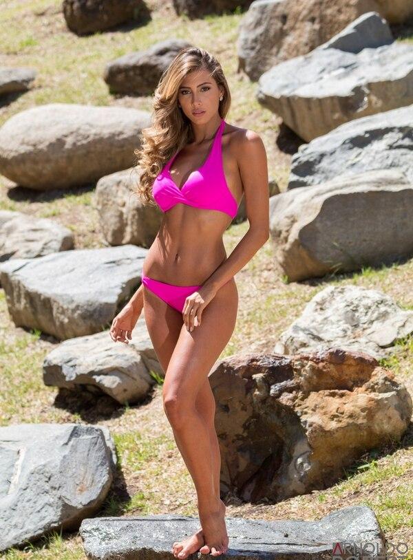 Natalia Carvajal participa en el Miss Costa Rica 2018. Ella tiene 27 años. Fotografía: Arnoldo Robert/Cortesía Teletica.