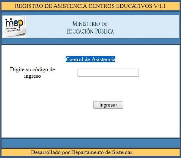App en la que el MEP registrará la asistencia a los centros educativos.