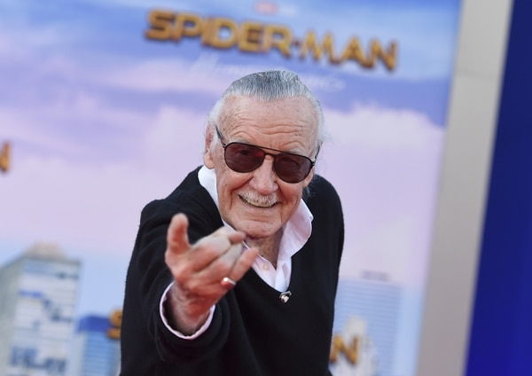 Stan Lee arrives at the Los Angeles premiere of