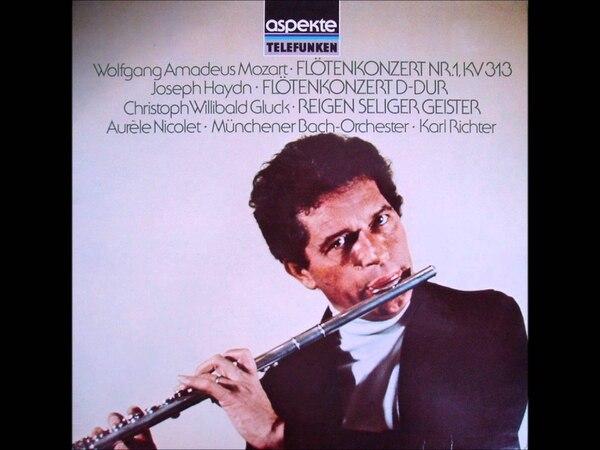 Portada de uno de los discos más célebres de Aurèle Nicolet, con grabaciones de obras de Mozart.