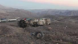 Accidente de autobús que transportaba mineros deja como saldo 27 muertos en Perú