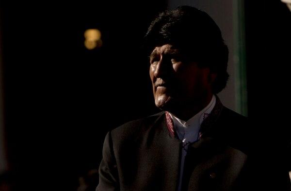 Evo Morales, presidente de Bolivia, durante una ceremonia para conmemorar el 84.° aniversario del fin de la Guerra del Chaco (1932-1935) entre ese país y Paraguay.