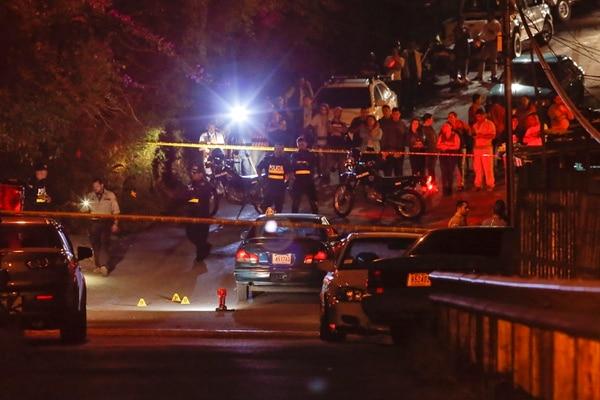 En Patio de Agua, Coronado, asesinaron el lunes pasado a John Sebastián Bejarano Rojas, de 34 años, uno de los 44 sujetos ultimados en los últimos 20 días. Foto: Mayela López