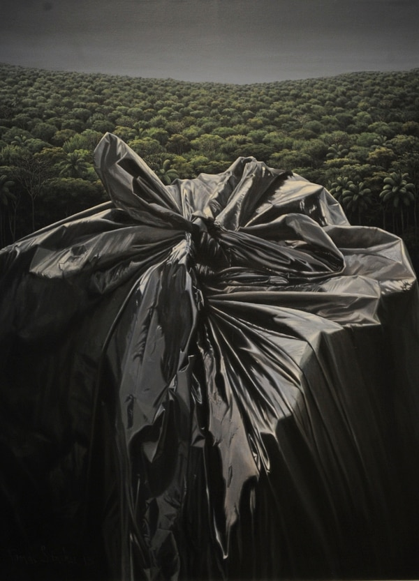 Nombre de la obra: Antagónismo, acrílico sobre tela 2015, 150 x 110 cm