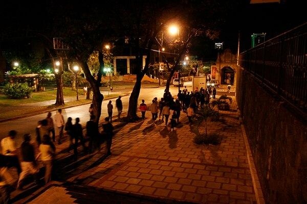 El paseo nocturnoprocura recuperar espacios josefinos.Archivo