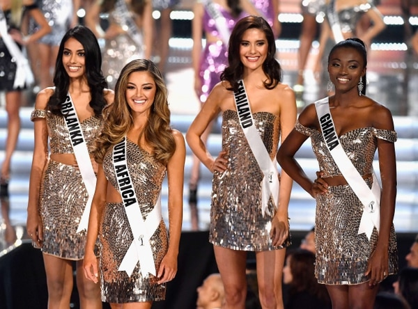 Finalistas de África, Asia y Oceanía de Miss Universo 2018. Foto: AFP.