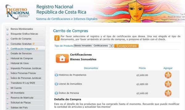 Estas son algunas de las certificaciones que se pueden sacar en el portal del Registro Nacional