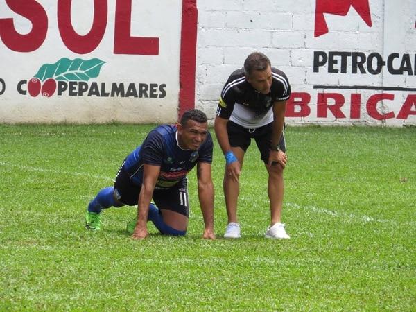 Cristhian Lagos tiene la confianza del técnico argentino Diego Giacone, quien llevó al experimentado goleador al cuadro de la península. Cortesía Jicaral Sercoba