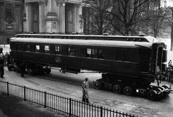 En este vagón ferroviario se firmó el armisticio que uso fin a la Primera Guerra Mundial, el 11 de noviembre de 1918, en Compiegne, Francia.