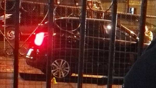 El vehículo presentaba impactos de bala en ambos costados y en el frente, comunicó el OIJ. Foto cortesía
