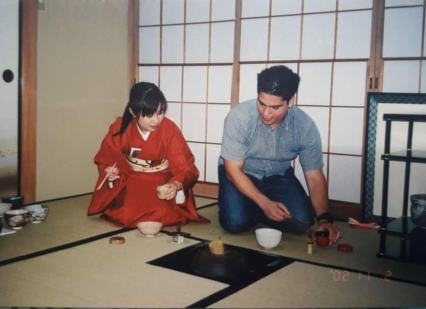 El tico Luis Calderón fue como voluntario a Japón. Fotografía: Cortesía