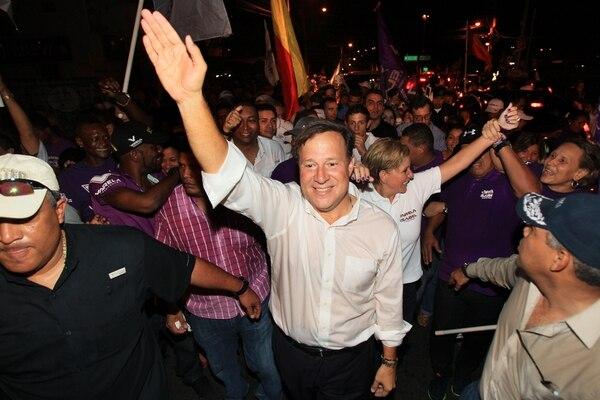 El presidente electo de Panamá, Juan Carlos Varela, celebró la victoria en las elecciones juntos a sus simpatizantes el domingo anterior en Ciudad de Panamá.