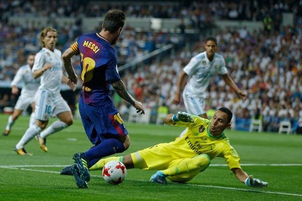 Keylor Navas tuvo un mano a mano con Lionel Messi