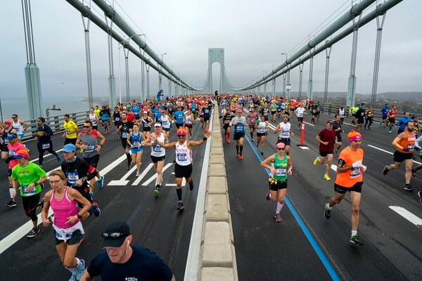 Corredores en la Maratón de Nueva York. Fotografía: AP