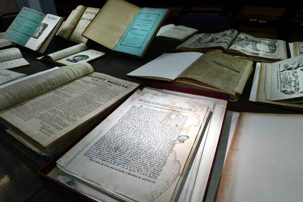 La sección de colecciones especiales de la Biblioteca Nacional se encuentra en un edificio especial. Allí se guardan los documentos más antiguos que van desde años antes de la fundación de la biblioteca en 1888. Foto: Jorge Castillo.