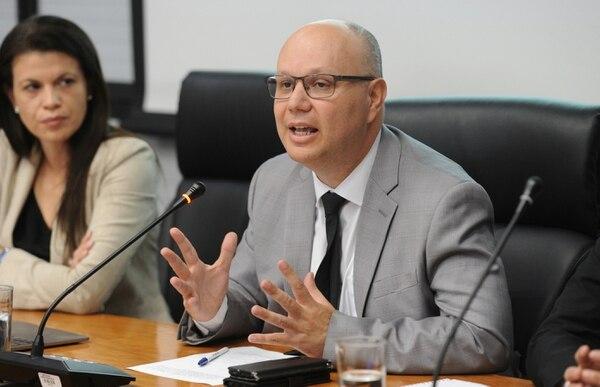 Michael Soto, ministro de Seguridad, durante una comparecencia en el Congreso. Foto: Melissa Fernández