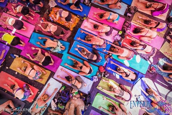 Las clases de yoga siempre estuvieron llenas de participantes en sus diferentes horarios.Foto: Eric Allen para LN.