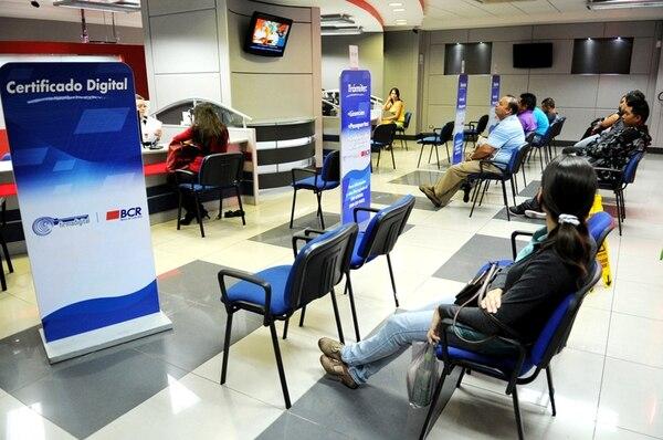 La plataforma de servicios del Banco de Costa Rica, ubicado en San José, funcionará de manera habitual del 26 al 30 de diciembre. | MARCELA BERTOZZI
