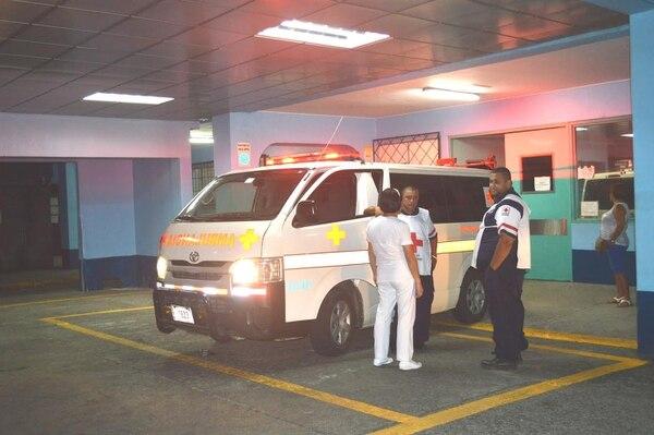 En esta unidad de la Cruz Roja del Valle de la Estrella trasladaron a la niña al Tony Facio.