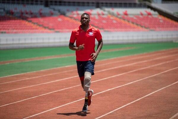 Sherman Guity competirá este viernes en los 100 y 200 metros lisos, como parte de su preparación para los Juegos Parapanamericanos de Lima 2019.. Fotografía: José Cordero