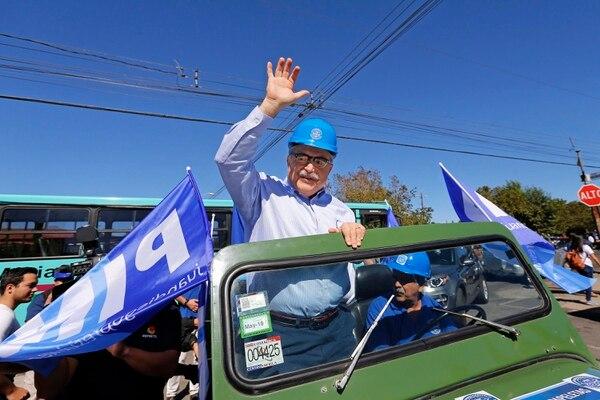 Juan Diego Castro, candidato del PIN, el día de las elecciones en primera ronda. Foto: Albert Marín