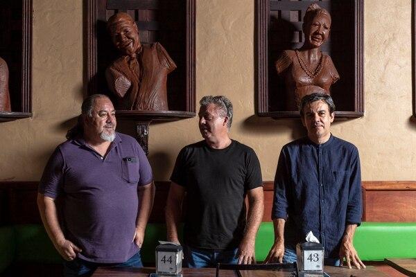 Carlos Sequeira, Iván Rodríguez y Theo Peters fundaron hace 20 años Jazz Café San Pedro. Fotografía: José Cordero.