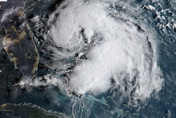 La tormenta tropical Humberto vista a las 6 a. m. (hora de Costa Rica) de este domingo 15 de setiembre del 2019.